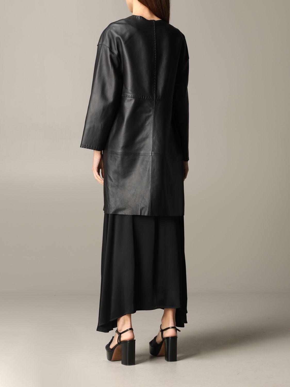 Maliparmi leather coat black 3