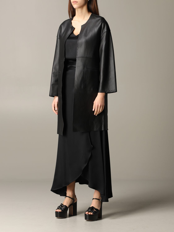 Maliparmi leather coat black 4