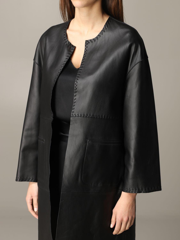 Maliparmi leather coat black 5