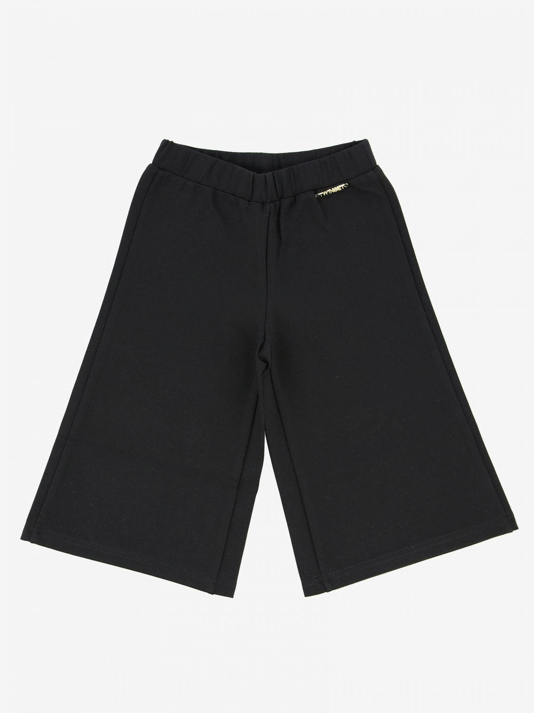 Breite Twin Set Hose mit Logo schwarz 1