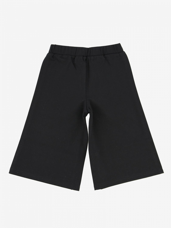 Breite Twin Set Hose mit Logo schwarz 2