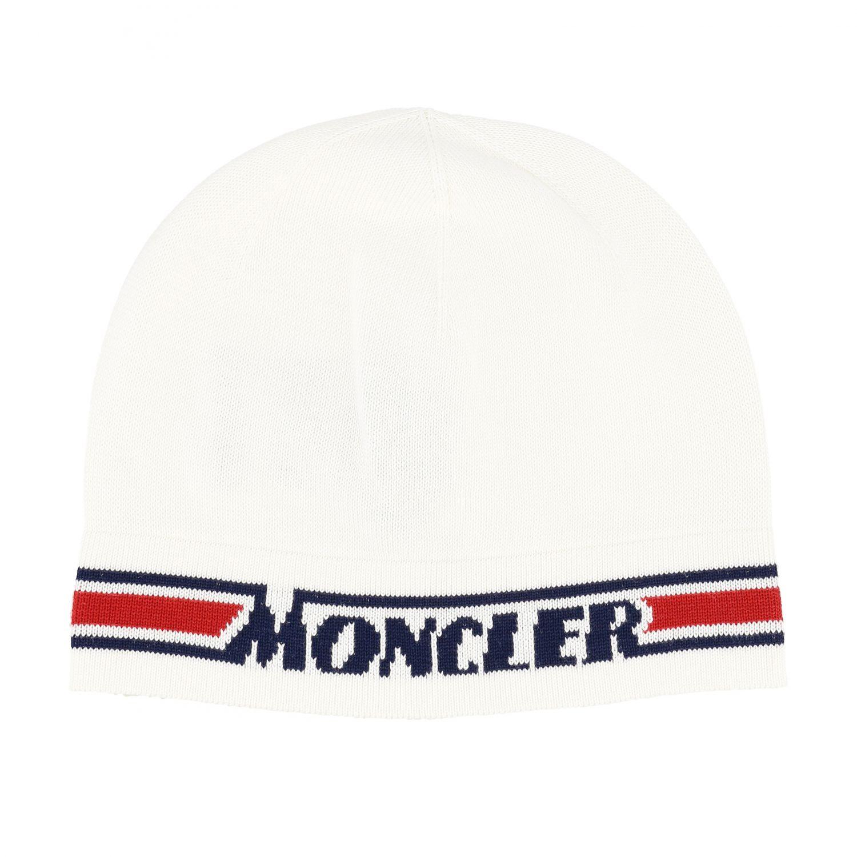 Шапка с логотипом Детское Moncler белый 1