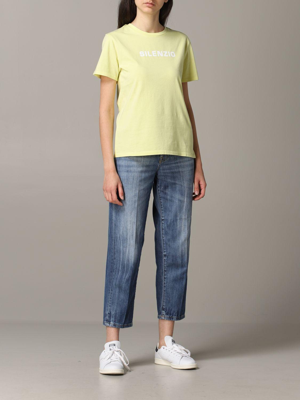 T-Shirt Aspesi: Jumper women Aspesi yellow 2