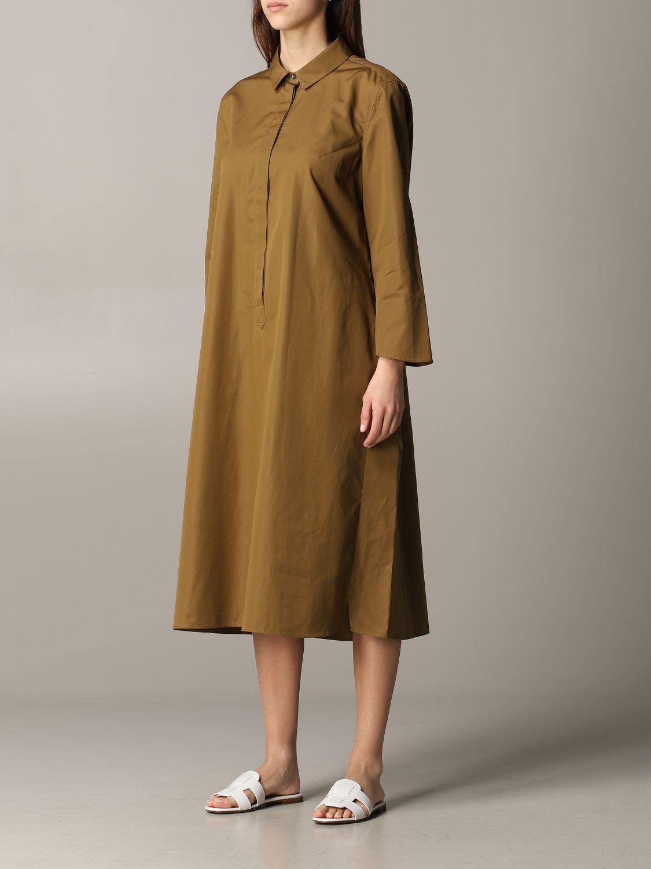 Dress Aspesi: Dress women Aspesi tobacco 3