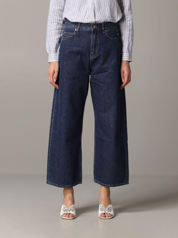 Jeans Aspesi: Trousers women Aspesi grey 1