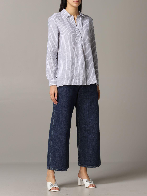 Jeans Aspesi: Trousers women Aspesi grey 2