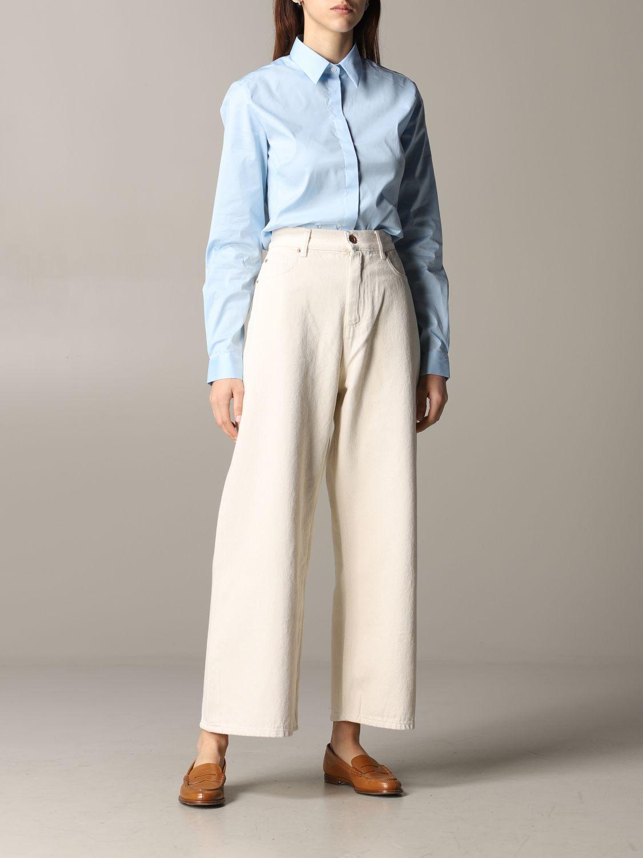 Jeans Aspesi: Trousers women Aspesi butter 2