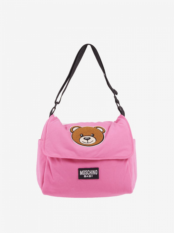 Sac Mama's bag Moschino Baby avec teddy rose 1