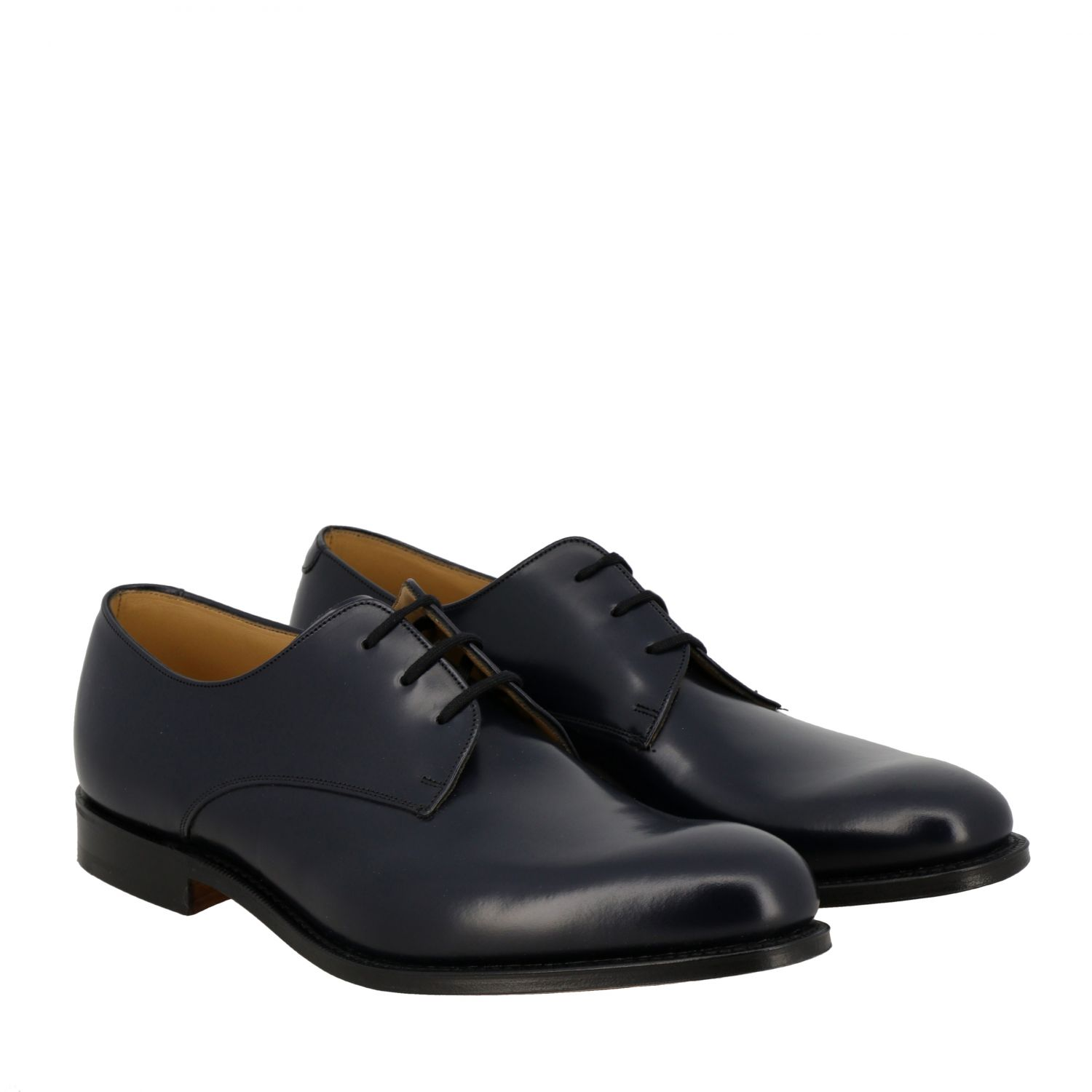 Brogue shoes Church's: Church's lace-up in smooth leather navy 2