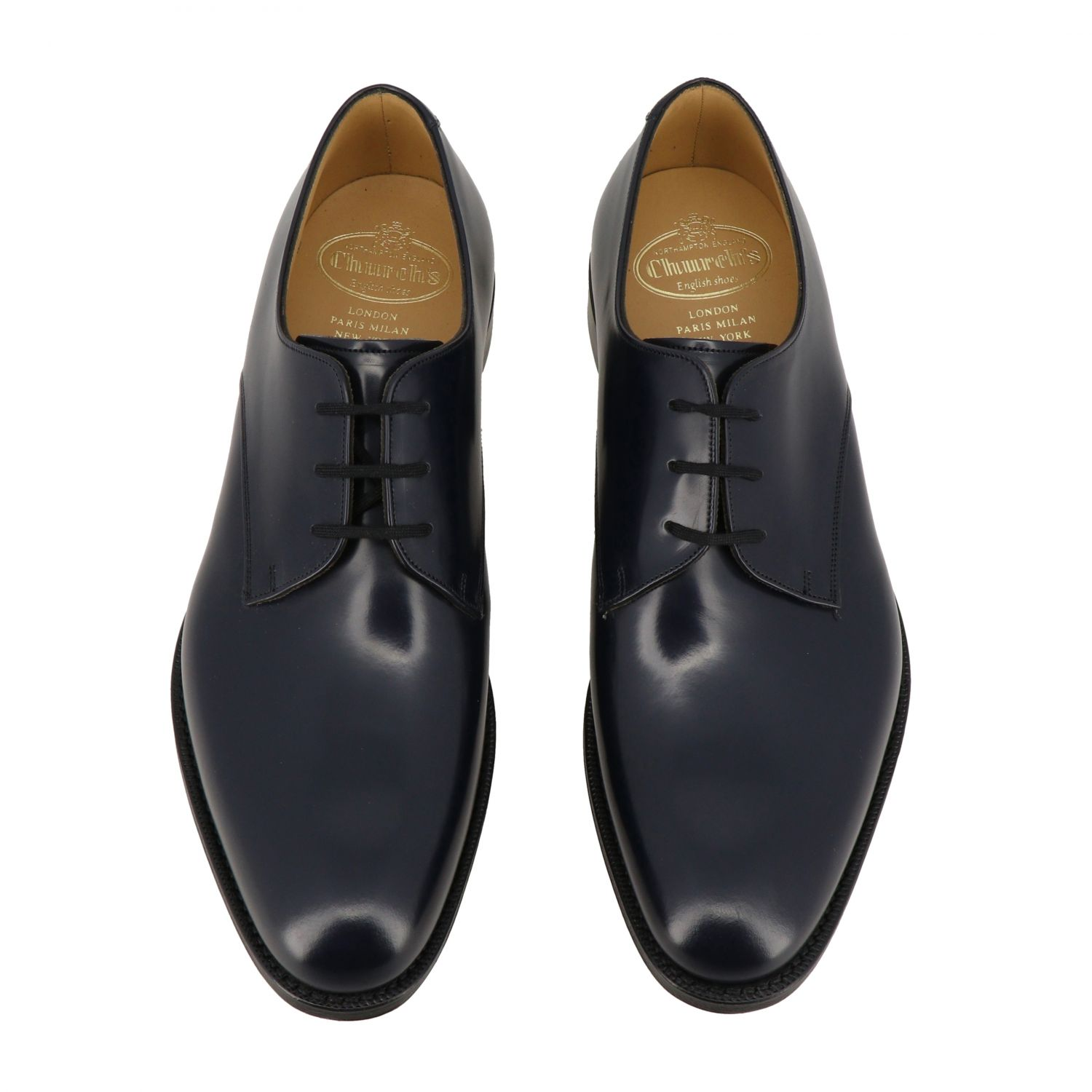 Brogue shoes Church's: Church's lace-up in smooth leather navy 3
