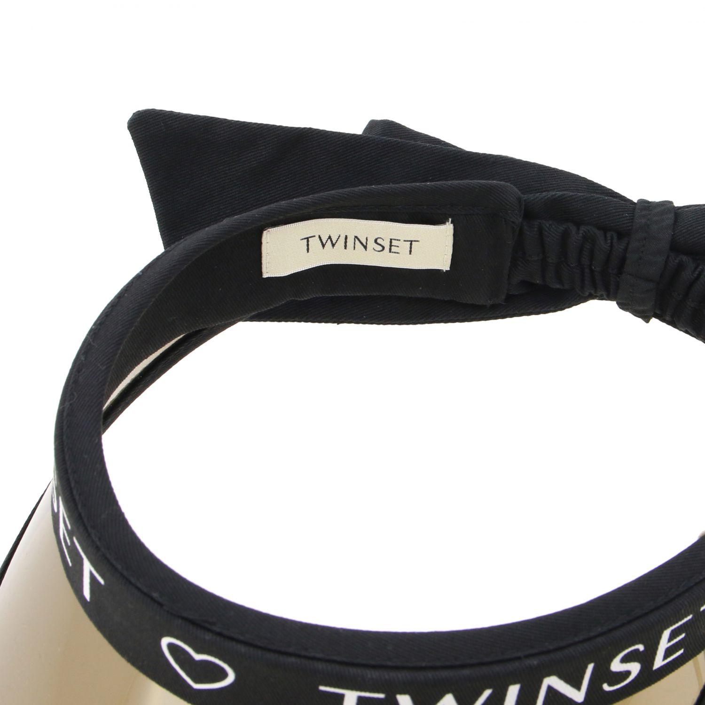 Twin Set Visier mit Logo schwarz 2