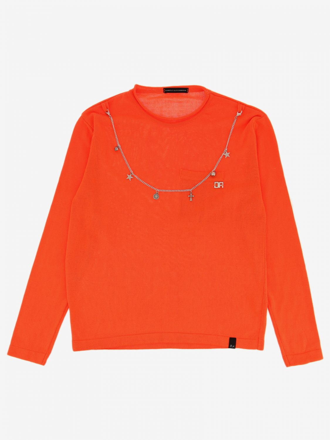 Pull enfant Daniele Alessandrini orange 1