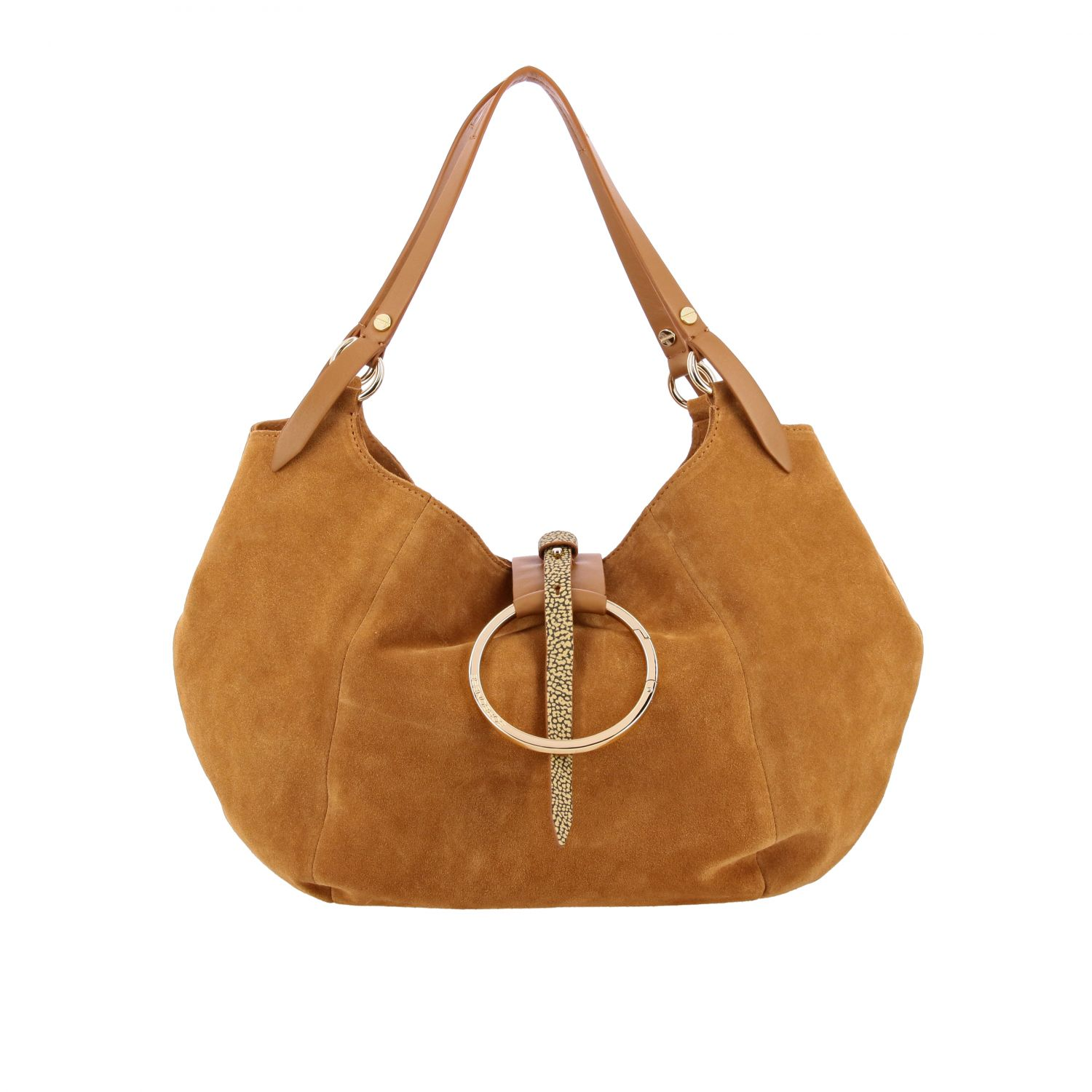 Handbag women Borbonese brown 1
