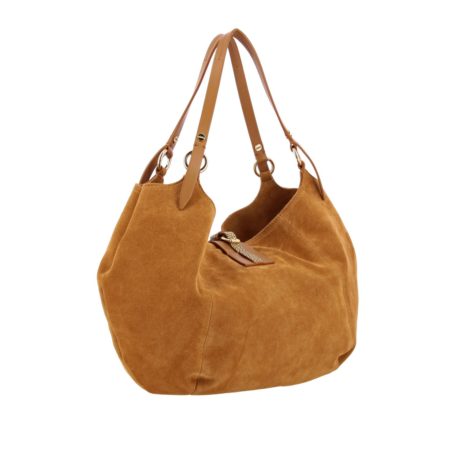 Handbag women Borbonese brown 3