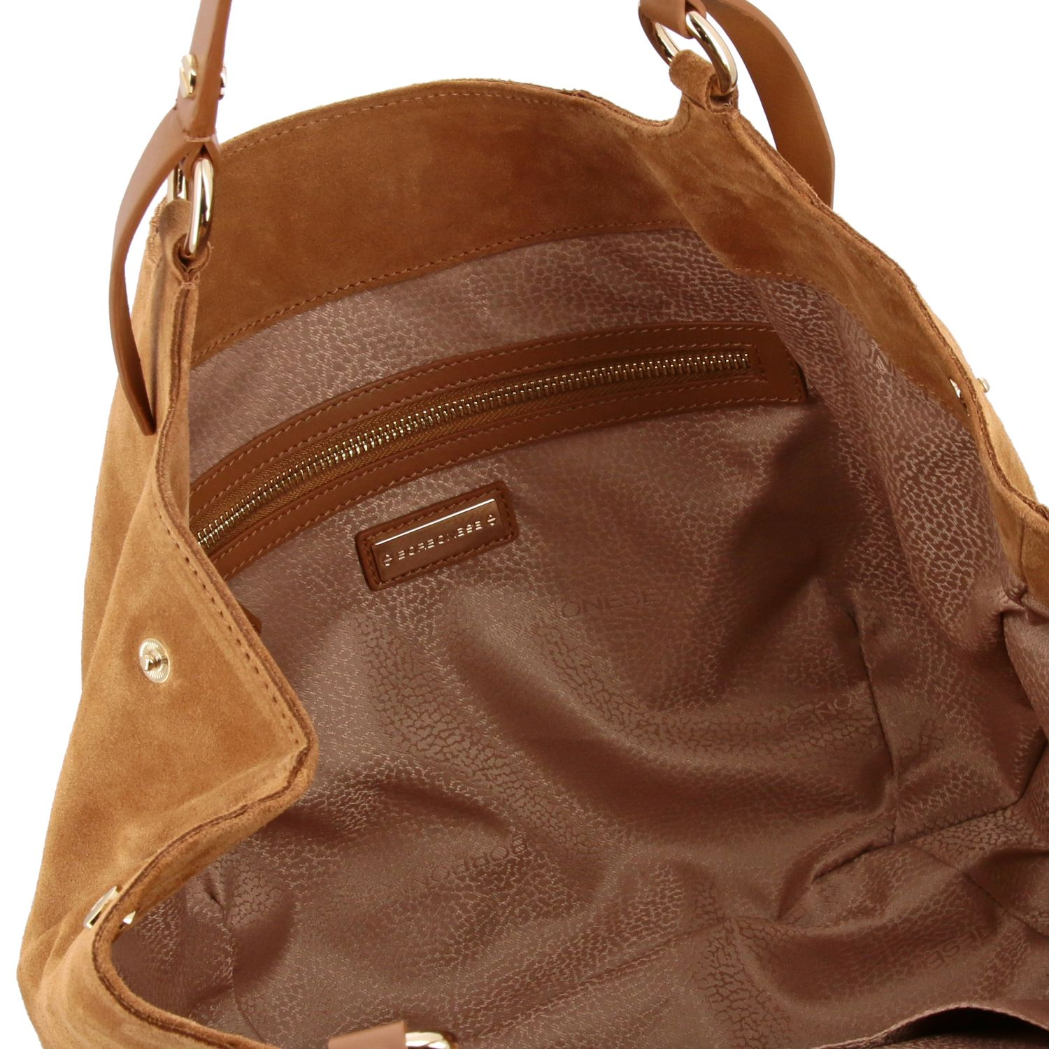 Handbag women Borbonese brown 5