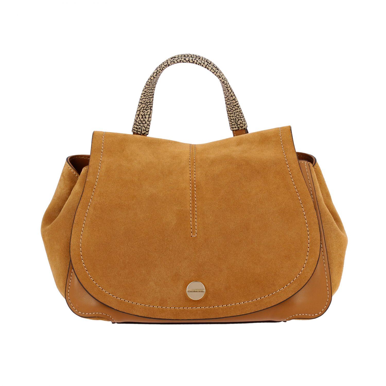 Borbonese Handtasche aus Wildleder braun 1