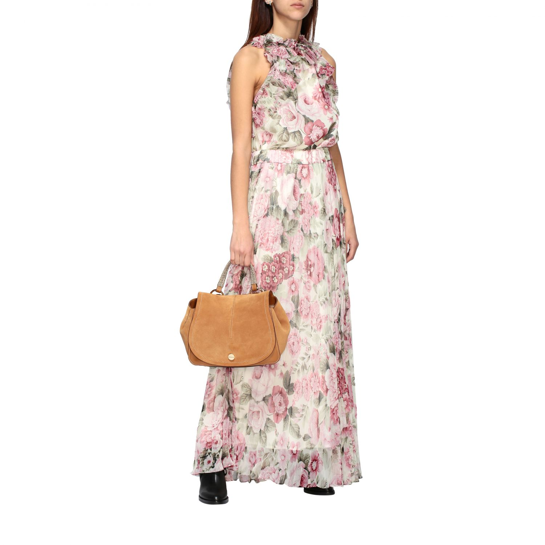 Handbag women Borbonese brown 2