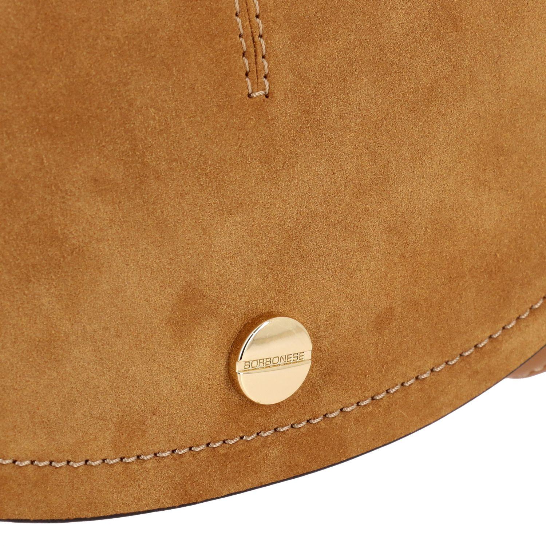 Borbonese Handtasche aus Wildleder braun 4