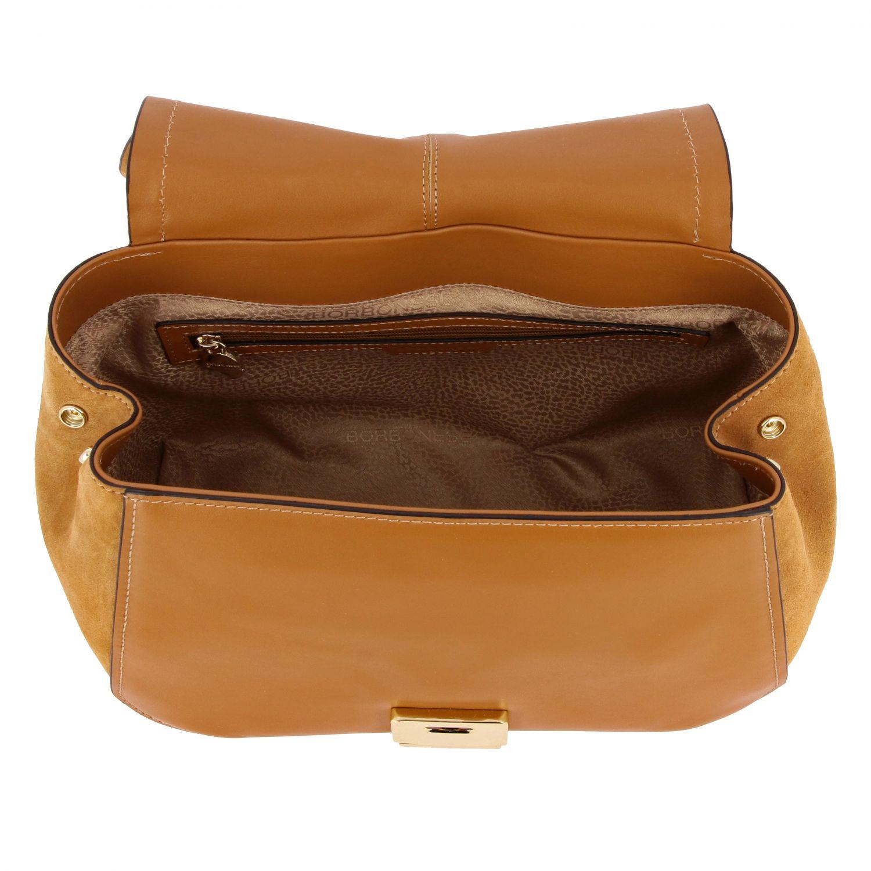 Borbonese Handtasche aus Wildleder braun 5