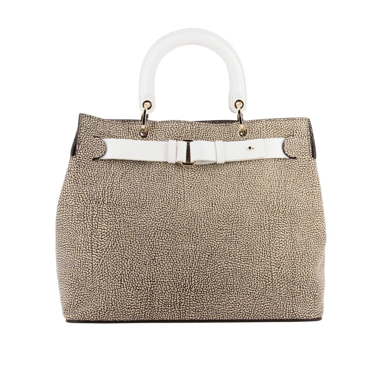 Handbag women Borbonese natural 1