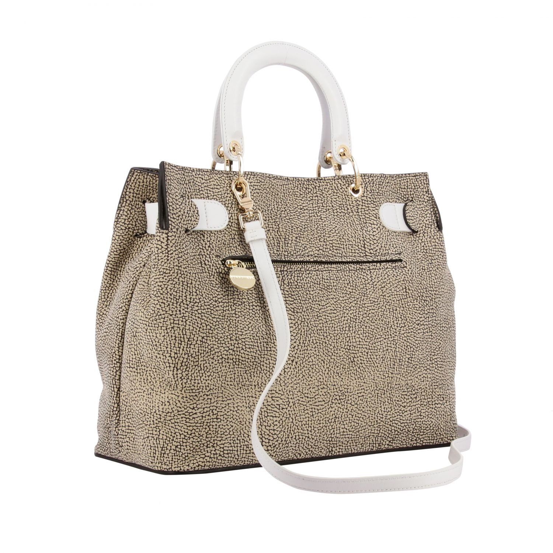 Handbag women Borbonese natural 3