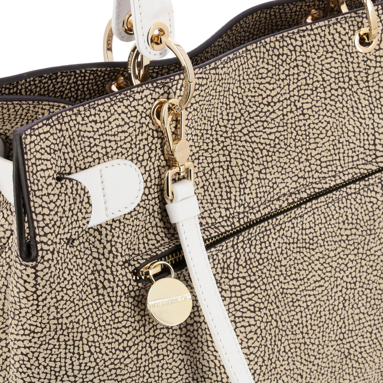 Handbag women Borbonese natural 4