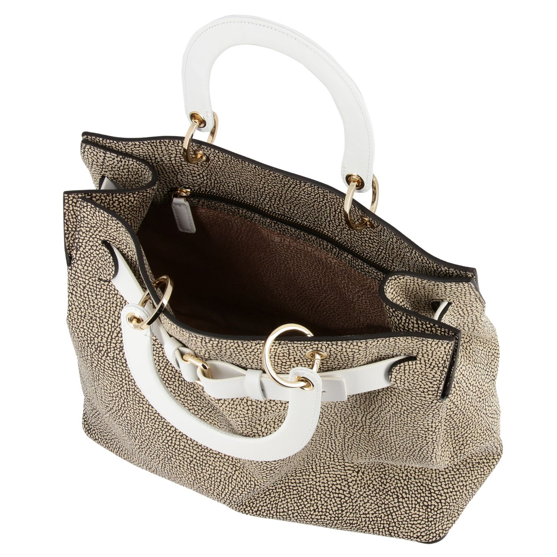 Handbag women Borbonese natural 5
