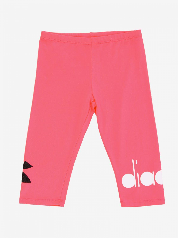 Pantalone Diadora: Leggings Diadora con logo fuxia 1