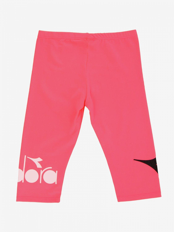 Pantalone Diadora: Leggings Diadora con logo fuxia 2