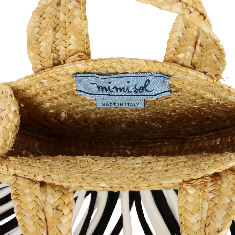 Mi Mi Sol raffia bag with two-tone fringes yellow 4