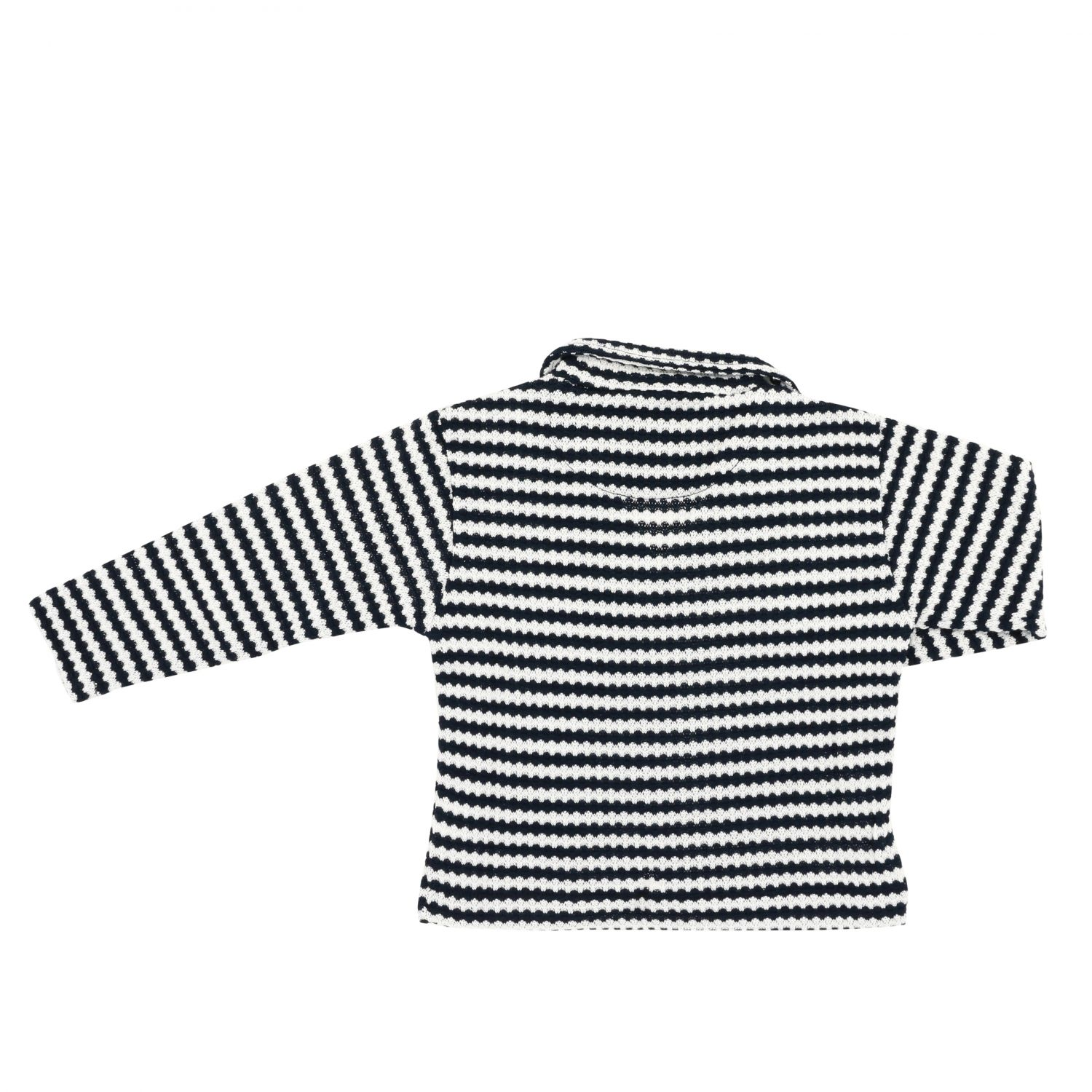 Nupkeet striped knitted jacket blue 2
