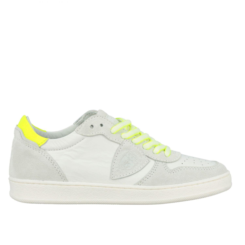 Sneakers Philippe Model in pelle e camoscio bianco 1