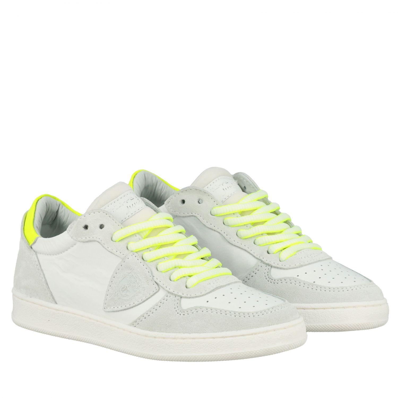 Sneakers Philippe Model in pelle e camoscio bianco 2