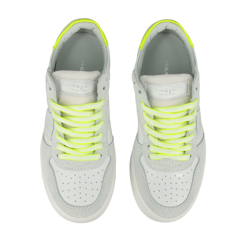 Sneakers Philippe Model in pelle e camoscio bianco 3