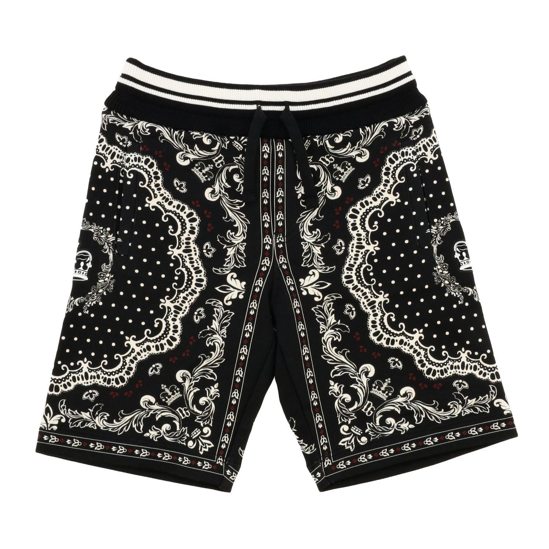 Pantaloncino Dolce & Gabbana: Pantaloncino Dolce & Gabbana stampato nero 1