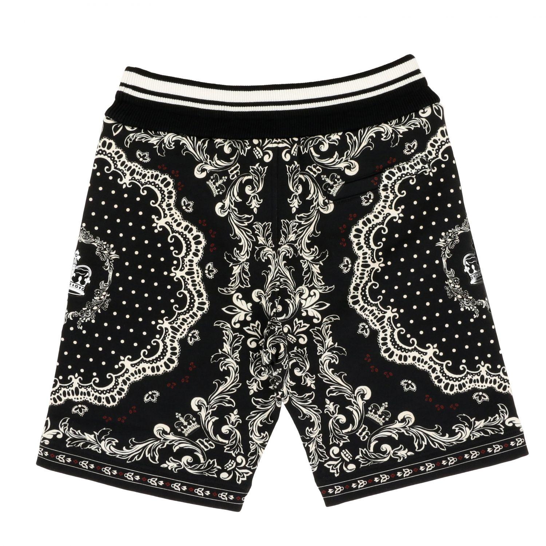 Pantaloncino Dolce & Gabbana: Pantaloncino Dolce & Gabbana stampato nero 2