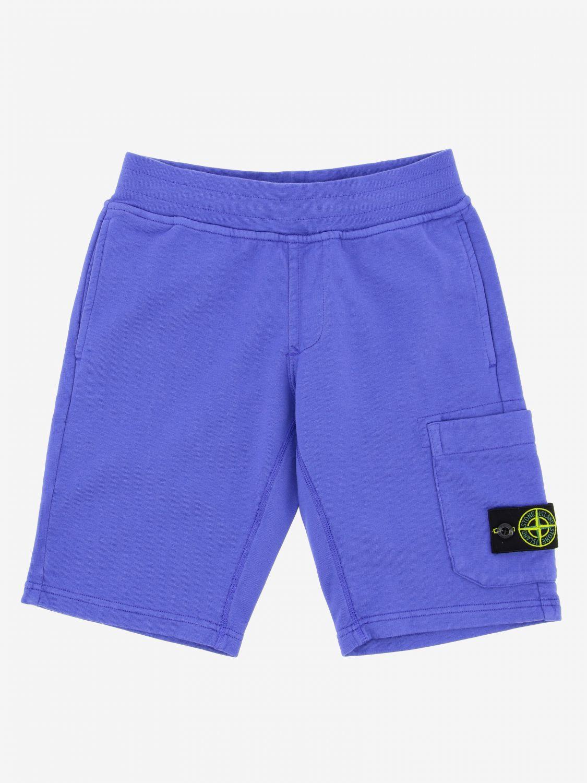Shorts kids Stone Island Junior periwinkle 1