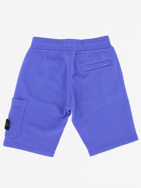 Shorts kids Stone Island Junior periwinkle 2