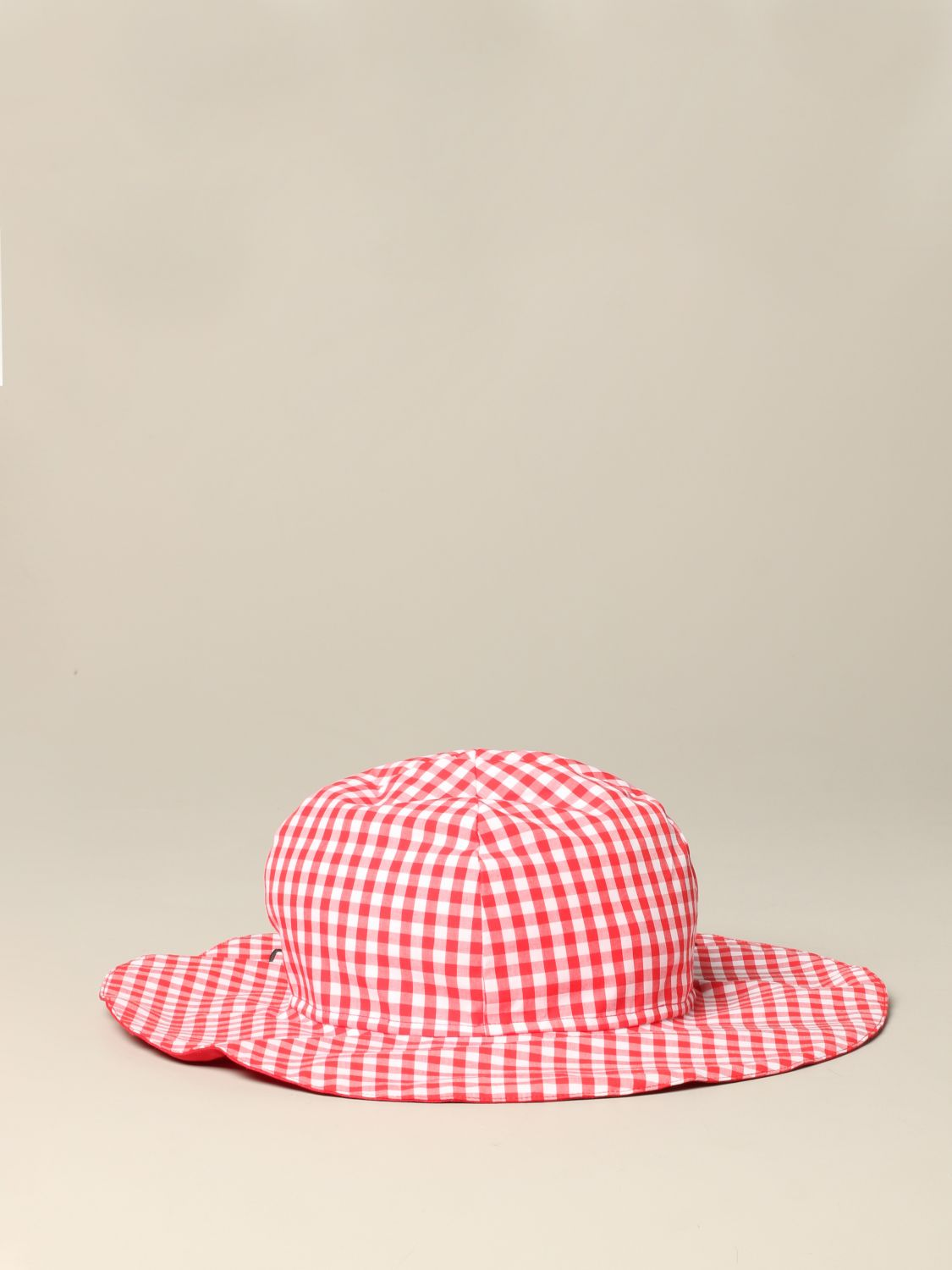 Sonia Rykiel checkered hat with logo red 3