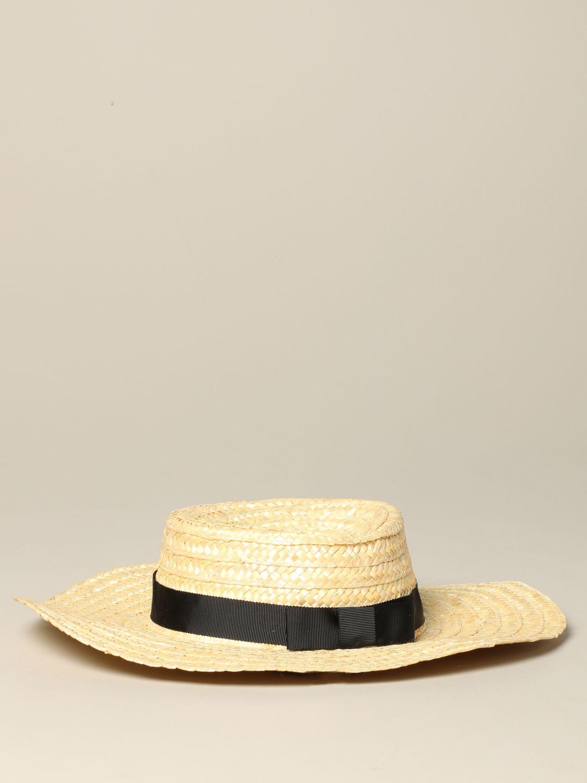 Sonia Rykiel braided boat hat beige 1