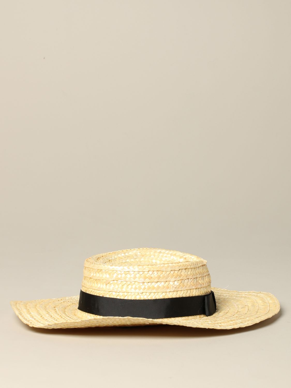 Sonia Rykiel braided boat hat beige 2
