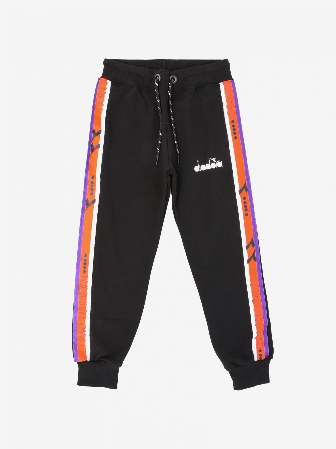 Diadora jogging trousers with logo black 1