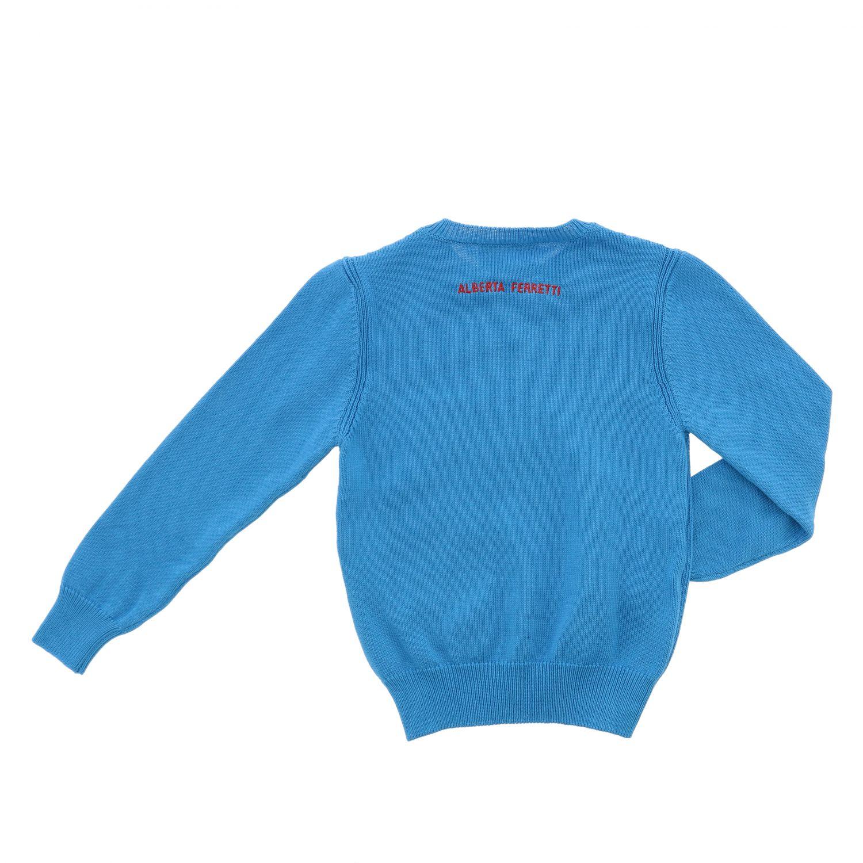 毛衣 Alberta Ferretti Junior: Alberta Ferretti Junior 字母印花毛衣 绿松石蓝 2