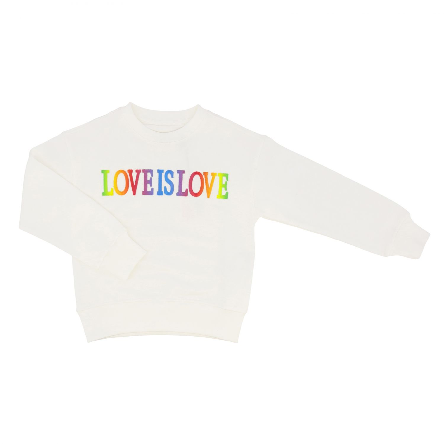 Sweater Alberta Ferretti Junior: Alberta Ferretti Junior sweater with multicolor writing white 1
