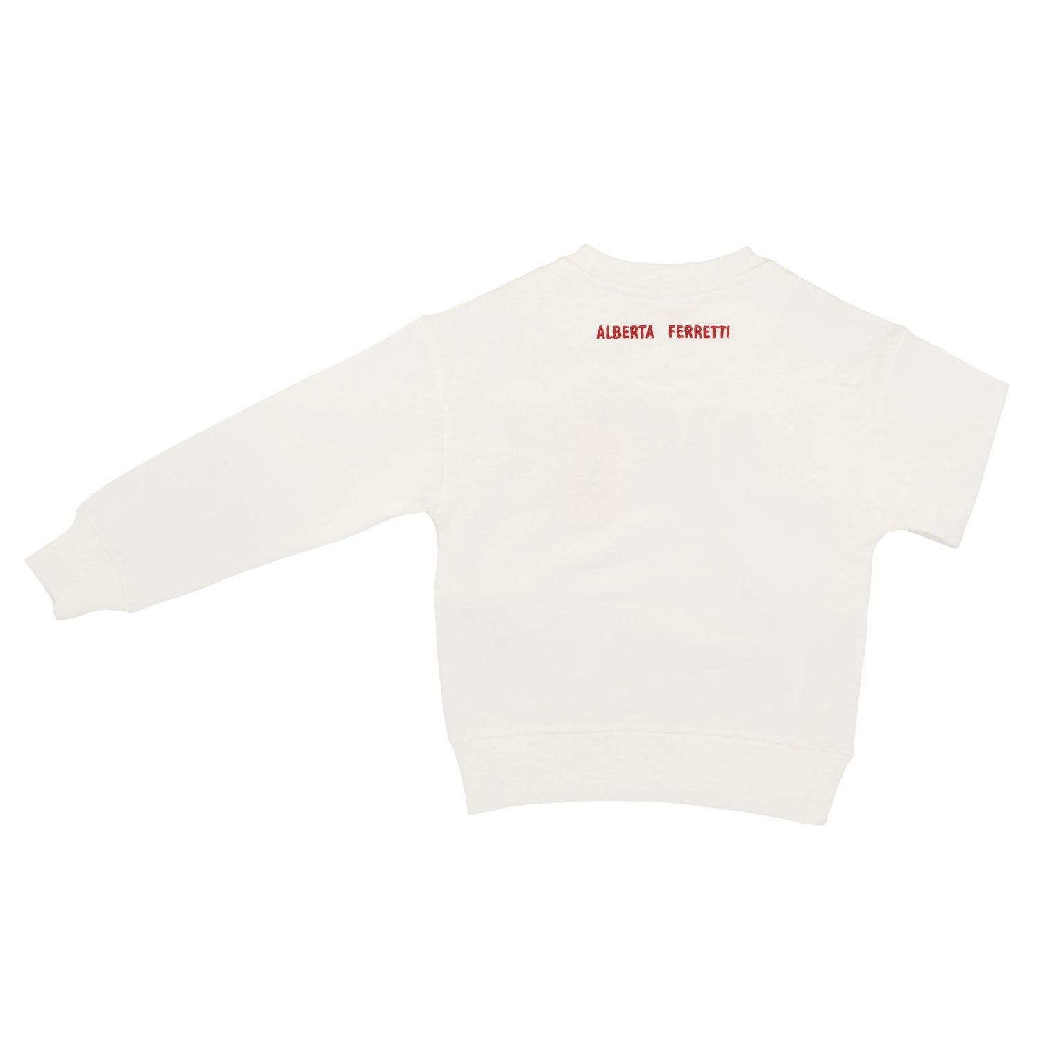 Sweater Alberta Ferretti Junior: Alberta Ferretti Junior sweater with multicolor writing white 2