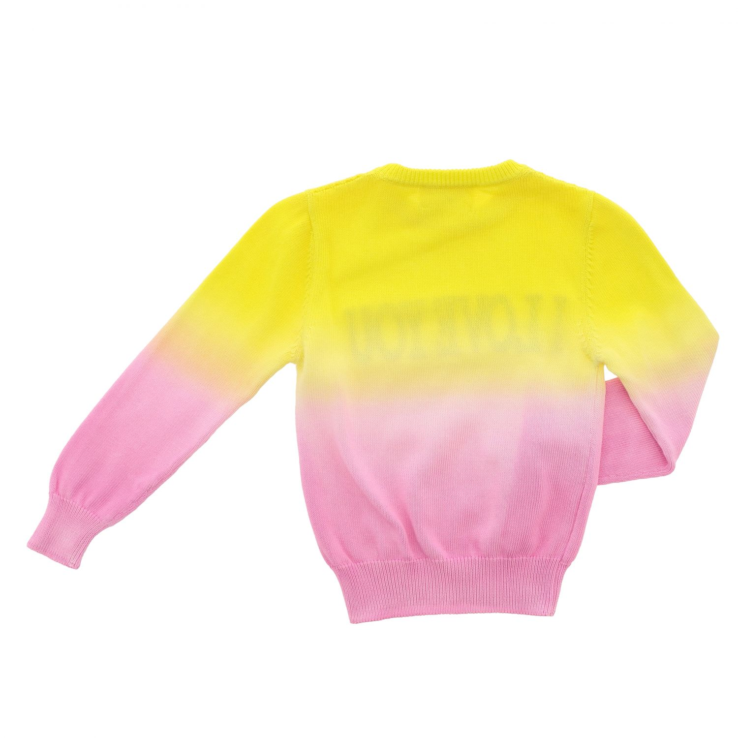 Sweater Alberta Ferretti Junior: Alberta Ferretti Junior shaded sweater with writing yellow 2