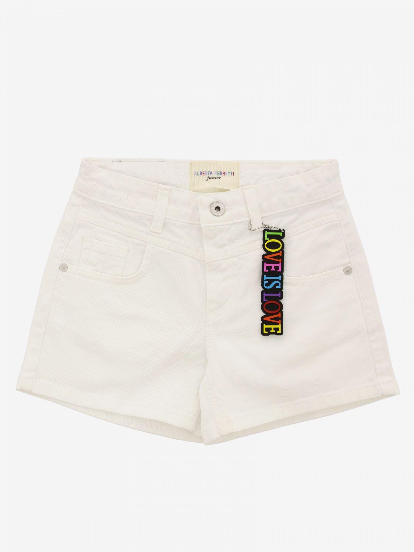 Short Alberta Ferretti Junior: Trousers kids Alberta Ferretti Junior white 1 1
