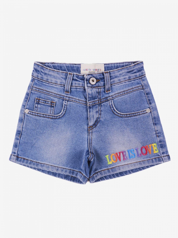 Pantaloncino Alberta Ferretti Junior: Pantaloncino di jeans Alberta Ferretti Junior denim 1