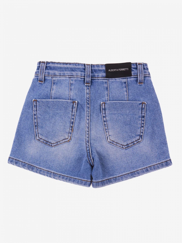 Pantaloncino Alberta Ferretti Junior: Pantaloncino di jeans Alberta Ferretti Junior denim 2