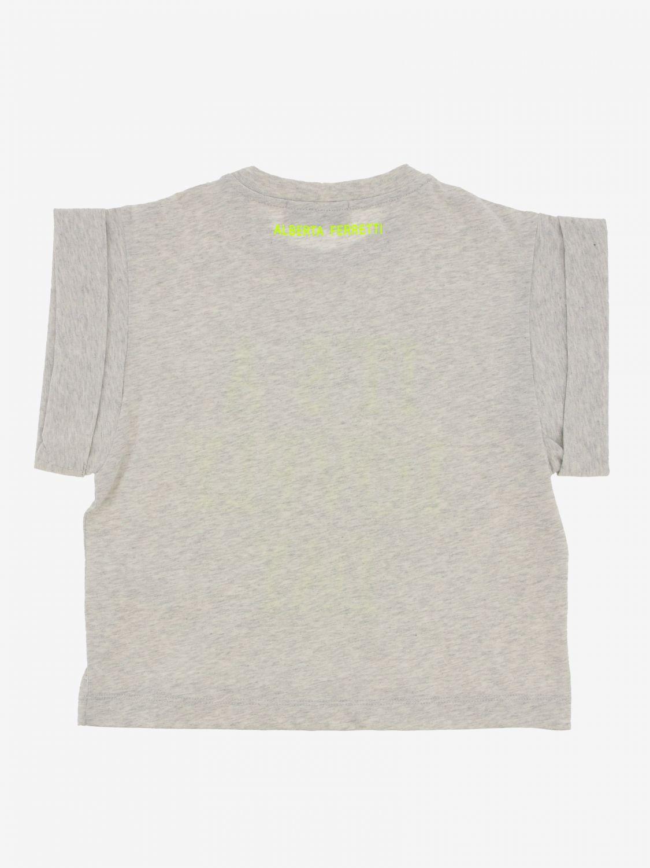 T恤 Alberta Ferretti Junior: Alberta Ferretti Junior 印花T恤 灰色 2